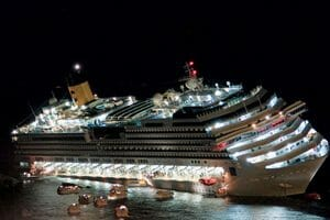 Tilted Cruise Ship