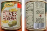 Potentially Contaminated Olives Warning