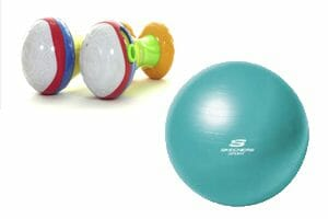 Toy Maracas and fitness ball