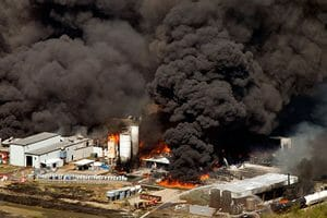 Texas Chemical Plant Fire