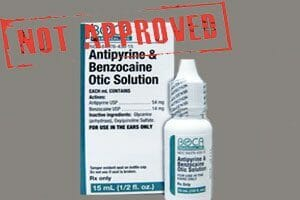 Eardrops with Benzocaine