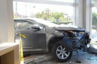 SUV Crashes through Front Window of Citibank