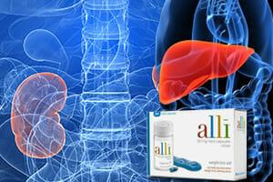 liver kidney damage alli orlistat