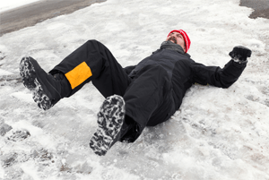 premises liability slip and fall on hard snow