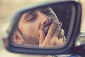 Driver Falls Asleep Behind Wheel