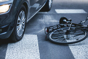 Bicycle accident in coram results in injuries