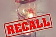 Farm Glass and Metal Spiral Tea Light Holder Recalled