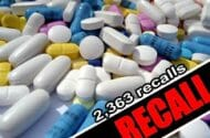 High Number Of Drug Recalls Leaving Consumers Numb