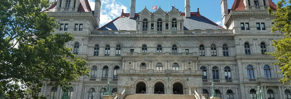 At the New York State Capitol, shown here, legislators passed the NY Child Victims Act in 2019