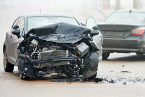 Multi-vehicle accident in bronx, new york on july 5, 2020