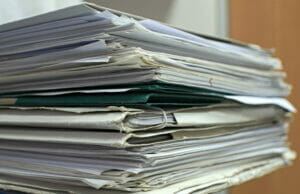 A stack of documents related to Protonix lawsuits