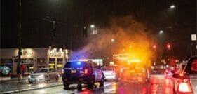 Multi-vehicle accident in williamsburg